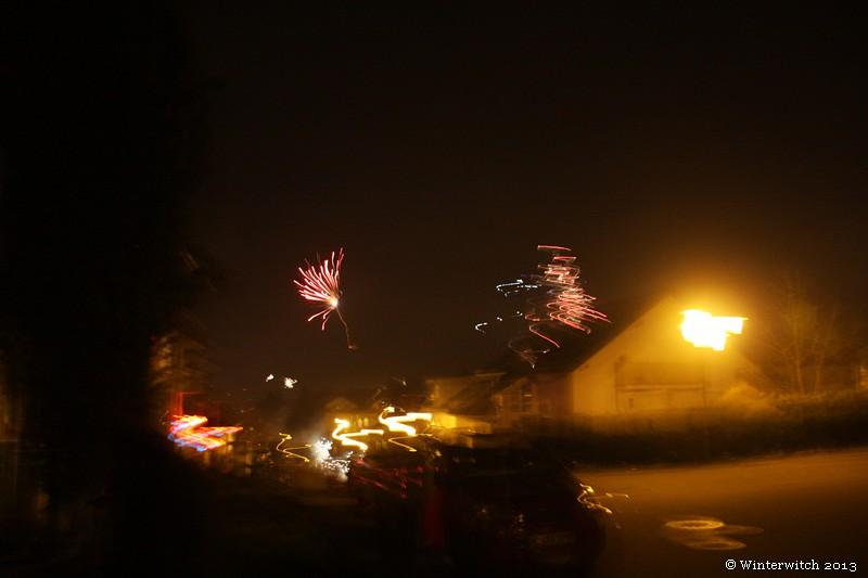 Feuerwerk im Dunkeln