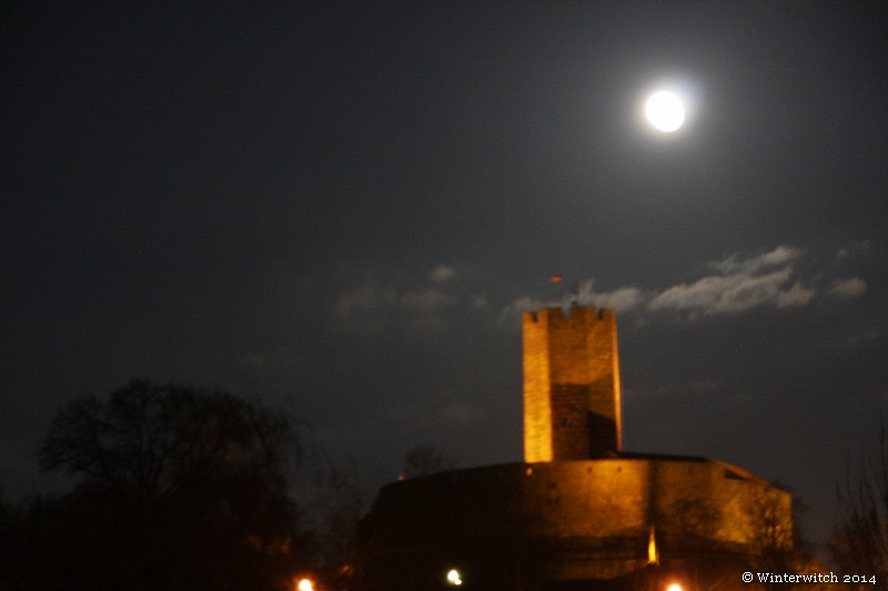 Full moon over Castle Steinsberg