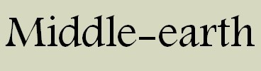 Banner: Middle-earth